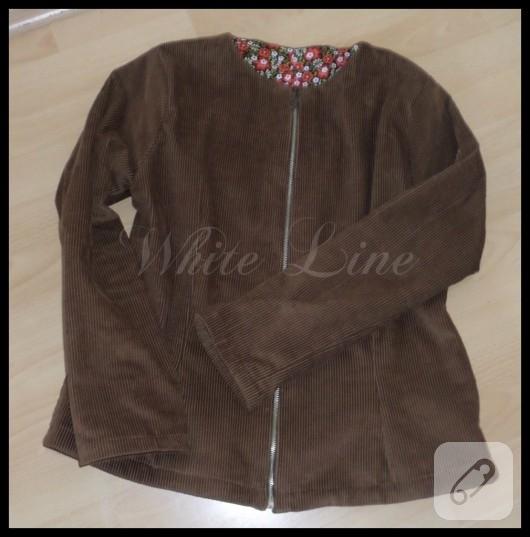 Fitilli kadifeden ceket