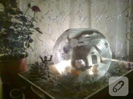Kış temalı gece lambası