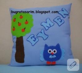 Baykuşlu takı yastığı