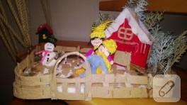 Kış temalı keçe ev yapımı