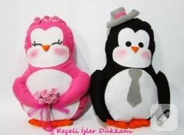 Bay&bayan penguen yastıklar