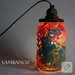 Kavanoz değerlendirme; lamba yapımı