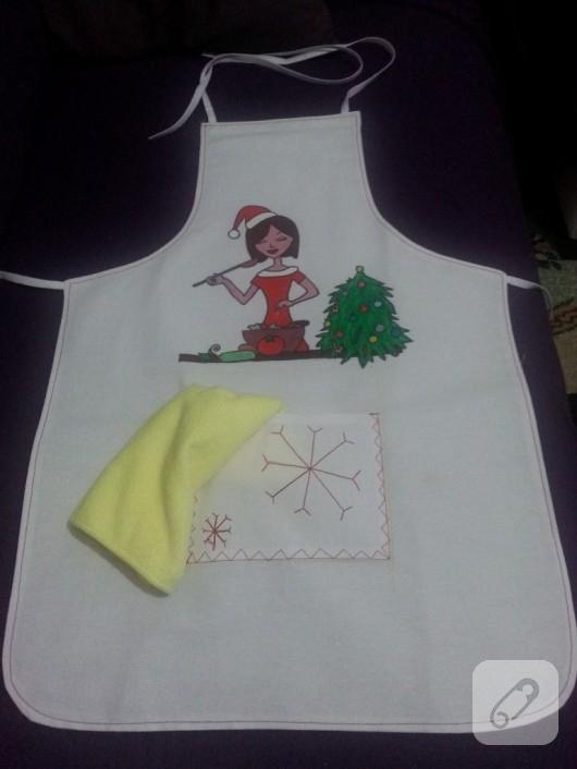 kumaş boyama mutfak önlüğü