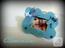 Keçeden bebek çerçeve magnet