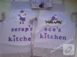 Anne-kız takım mutfak önlüğü