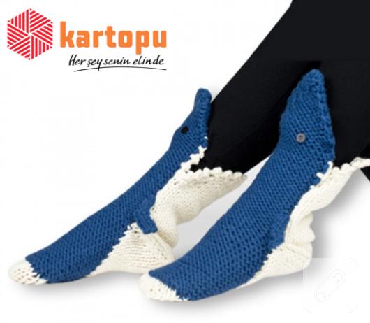 balık şeklinde çorap nasıl örülür