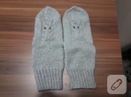 Baykuş modelli kış çorapları