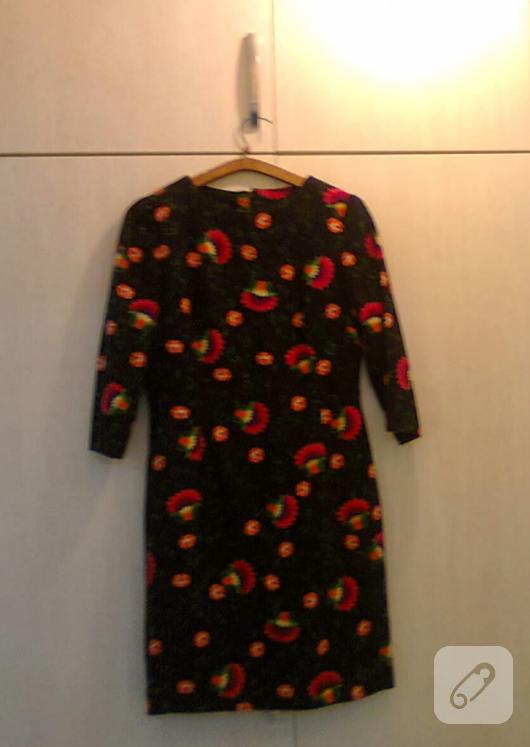 Çiçekli pazen elbise