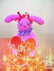 pembe amigurumi tavşan