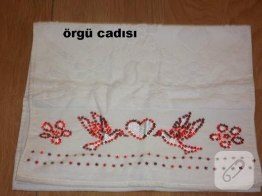 pul işlemeli havlu kenarları