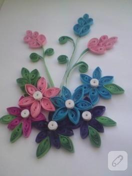 Kağıtdan çiçekler (quilling)
