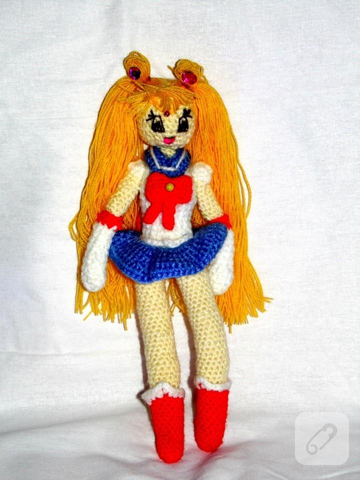Sailor Moon Usagi amigurumi ?rg? oyuncak 10marifet.org
