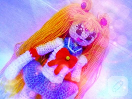 sailor moon amigurumi örgü oyuncak
