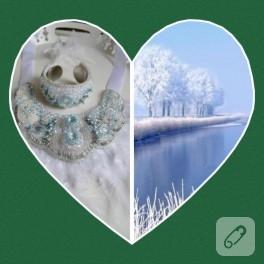Buz Kraliçesi – kolye, bileklik ve küpe yapımı