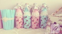Şişe değerlendirme (dekoratif vintage şişeler)