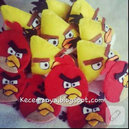 Angry Birds keçe kitap ayracı