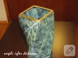 Granit mermerleme vazo çalışması