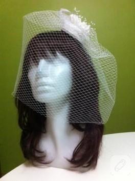Tüllü gelin duvağı / nikah şapkası