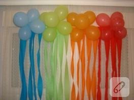 Doğum günü süslemeleri – renkli balonlar