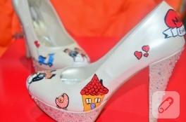 Ayakkabı boyama – süslü gelin ayakkabıları