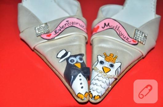 el boyaması gelin ayakkabıları