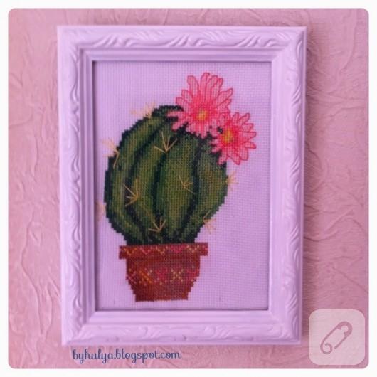 etamin-kaktus-desenli-cerceve-susleme