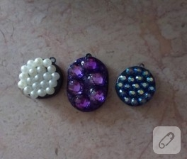 Fimo ve kristal taşlı kolyeler