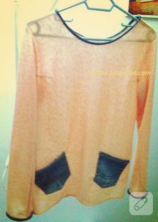 ince triko kumaştan bluz modeli dikiş