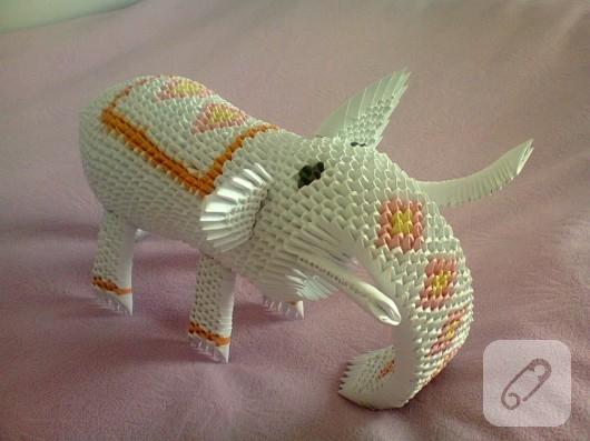 kagit-isleri-origami-fil