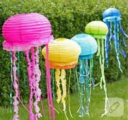 Deniz temalı partiler için fener yapımı