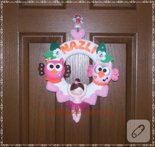 balerinli kapı süsü