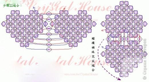 Kristal boncuklardan kalp