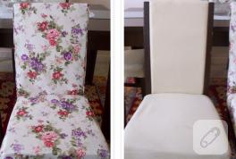 Duck kumaşla sandalye kaplama