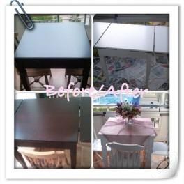 Ahşap boyama – masa yenileme