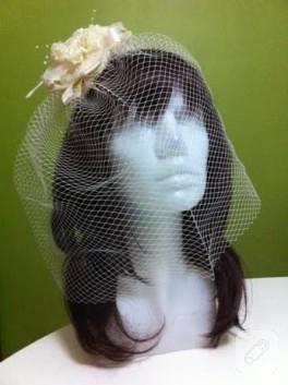 Kafes tüllü nikah şapkası / vualet