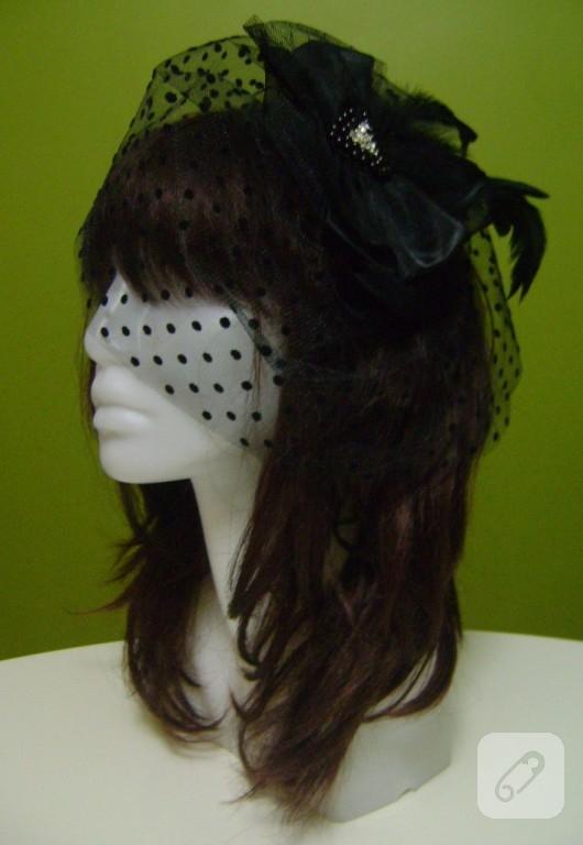 siyah nikah şapkası