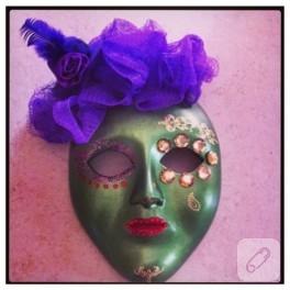 Seramik maske süsleme