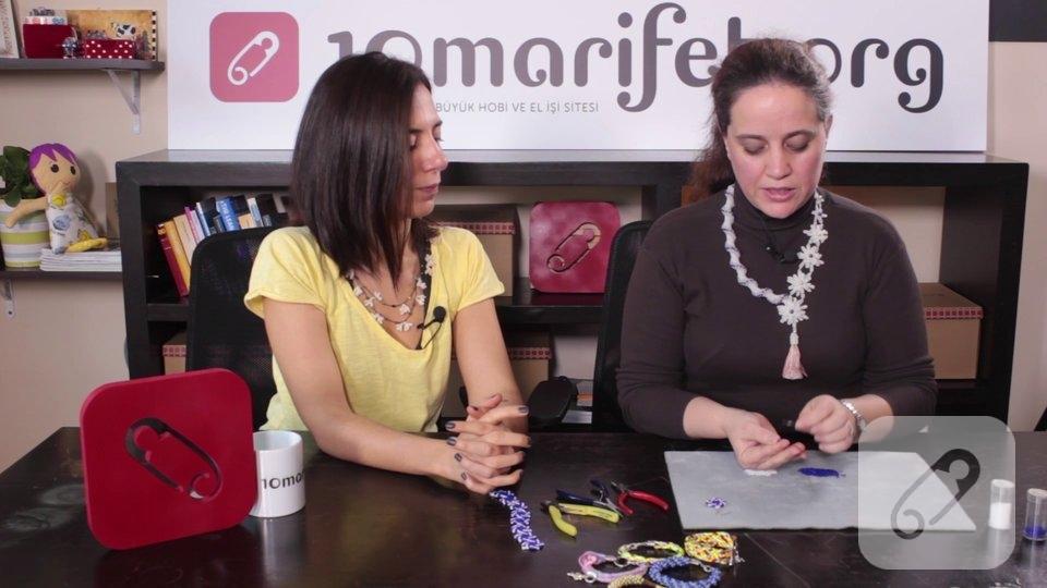Video: Circle peyote tekniği ile nasıl boncuk motif yapılır?-1