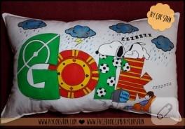 İsimli taraftar yastığı (kumaş boyama)