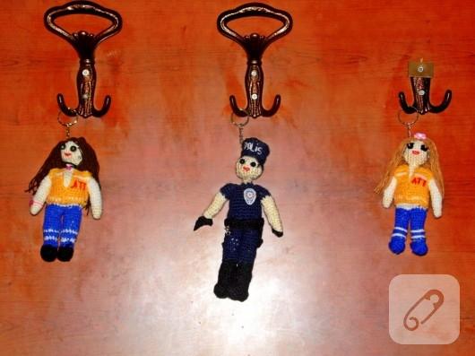Amigurumi Anahtarlık Tarifleri : Amigurumi bebekli anahtarlıklar u marifet