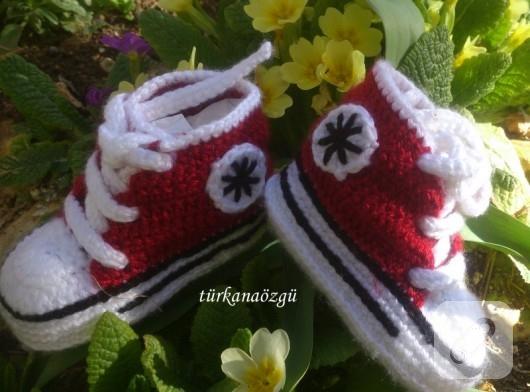 Converse örgü bebek patiği