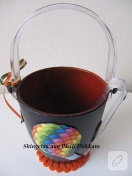 Hamur kabartma ve dekupaj ile cam buz kovası yenileme
