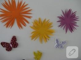 Çocuk etkinlikleri: kartondan çiçek yapımı