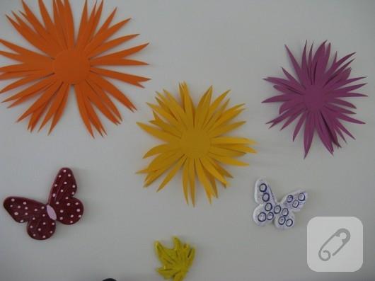 kartondan çiçek yapımı