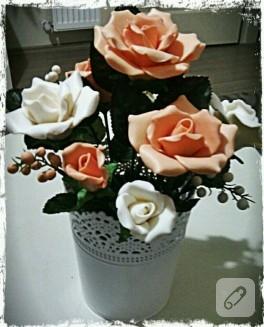 Dekoratif sabun çiçekler