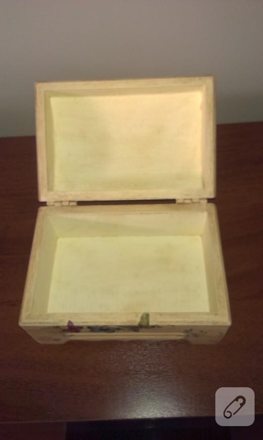 dekupajlı ahşap kutu