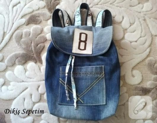 kot kumaştan çocuk sırt çantası