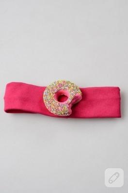 Renkli donut bebek saç bandı