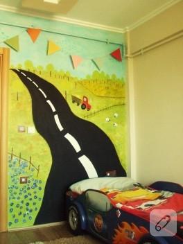Çocuk odası duvar boyama fikri