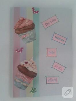Cupcake'li tebrik kartı